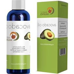 100% Pure Avocado Oil - Deep Tissue Moisturizer for Hair, Fa