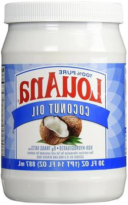 LouAna 100% Pure  Coconut Oil 14 fl oz Kosher Sealed Exp/202