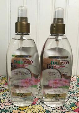 2 ORGANIX OGX COCONUT MIRACLE OIL WEIGHTLESS HYDRATING BODY