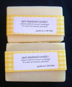2 Pack 5 oz bars Handmade Soap variety of scents homemade ha