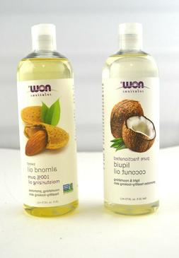 2 pack Now Solutions Liquid Coconut Oil and Almond Oil, 16-O
