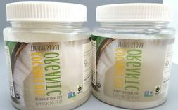 2 X Organic Virgin Coconut Oil Cooking, Baking, and Beauty,