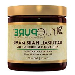 TruePure Natural Hair Mask With Argan Oil, Coconut Oil, Jojo