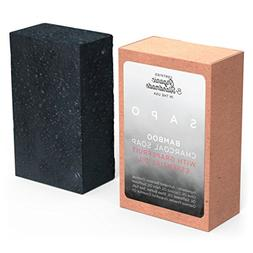 SAPO Organic Bamboo Charcoal Soap Bar - Natural US Handmade