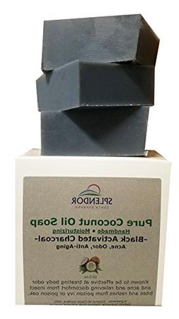 Black Activated Charcoal Soap Unscented, Natural & Pure Coco