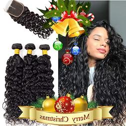 Brazilian Water Wave Bundles with Closure 3 Bundles Wet and