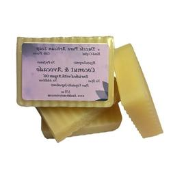 Coconut & Avocado Unscented Soap w/ Argan 3.75oz- Vegan, Goo