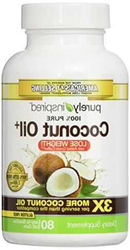 Purely Inspired 100% Pure Coconut Oil, 80 Count