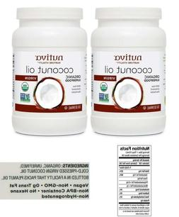 Coconut Oil 2 Pack 100% Organic Cold Pressed Extra Virgin Fo