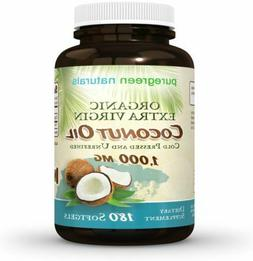 Coconut Oil Capsules - 1000 mg Organic Extra Virgin - 180 So