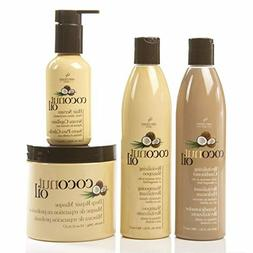 Coconut Oil Hair Care 4 Piece Set - Revitalize And Nourish D