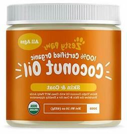 Zesty Paws Coconut Oil for Dogs - Certified Organic & Extra