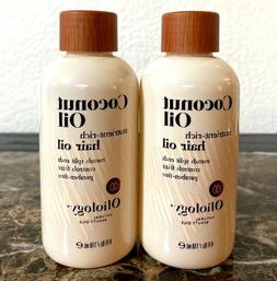 Oliology COCONUT OIL Nutrient-Rich Hair Oil 4 fl oz Lot of 2