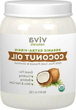 Viva Naturals - Extra Virgin Coconut Oil, 54 oz - 100% Pure