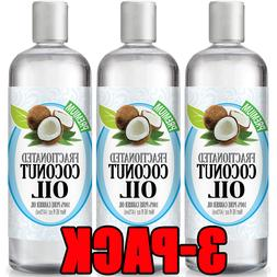 Fractionated Coconut Oil 16oz - 100% Pure, Premium Therapeut