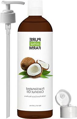Fractionated Coconut Oil  - Large 16oz - WITH PUMP + FREE Re