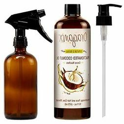 Oraganix Fractionated Coconut Oil with Amber Glass Spray Bot