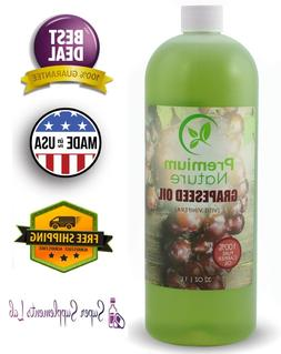 Grapeseed Oil Pure Carrier Oil - Cold Pressed Grape Seed Ext