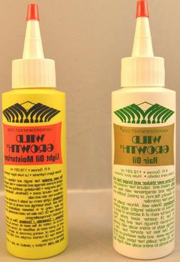 Wild Growth Hair Oil, Light Oil Moisturizer or Duo Pack Hair