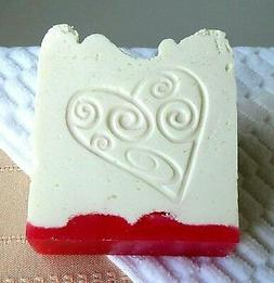 HANDMADE VEGAN SOAP HEART 45%Shea Butter Coconut Oil #homema