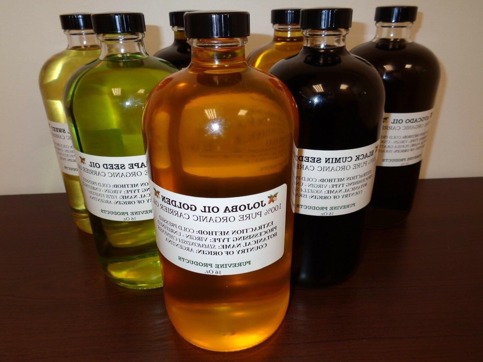 100 percent pure cold pressed carrier oils