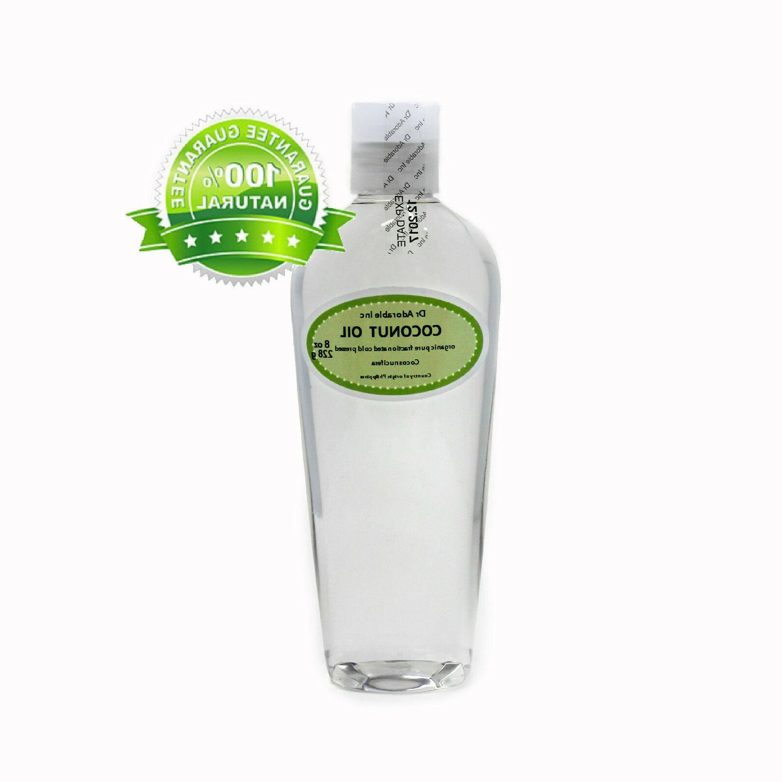 Fractionated Coconut Oil Pure Organic Natural Skin Hair Care