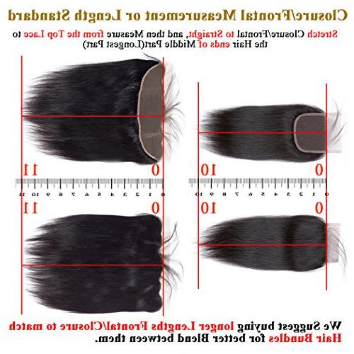 QTHAIR 10A Body Wave with Closure Unprocessed Brazilian Virgin Wave 4x4 Swiss Lace