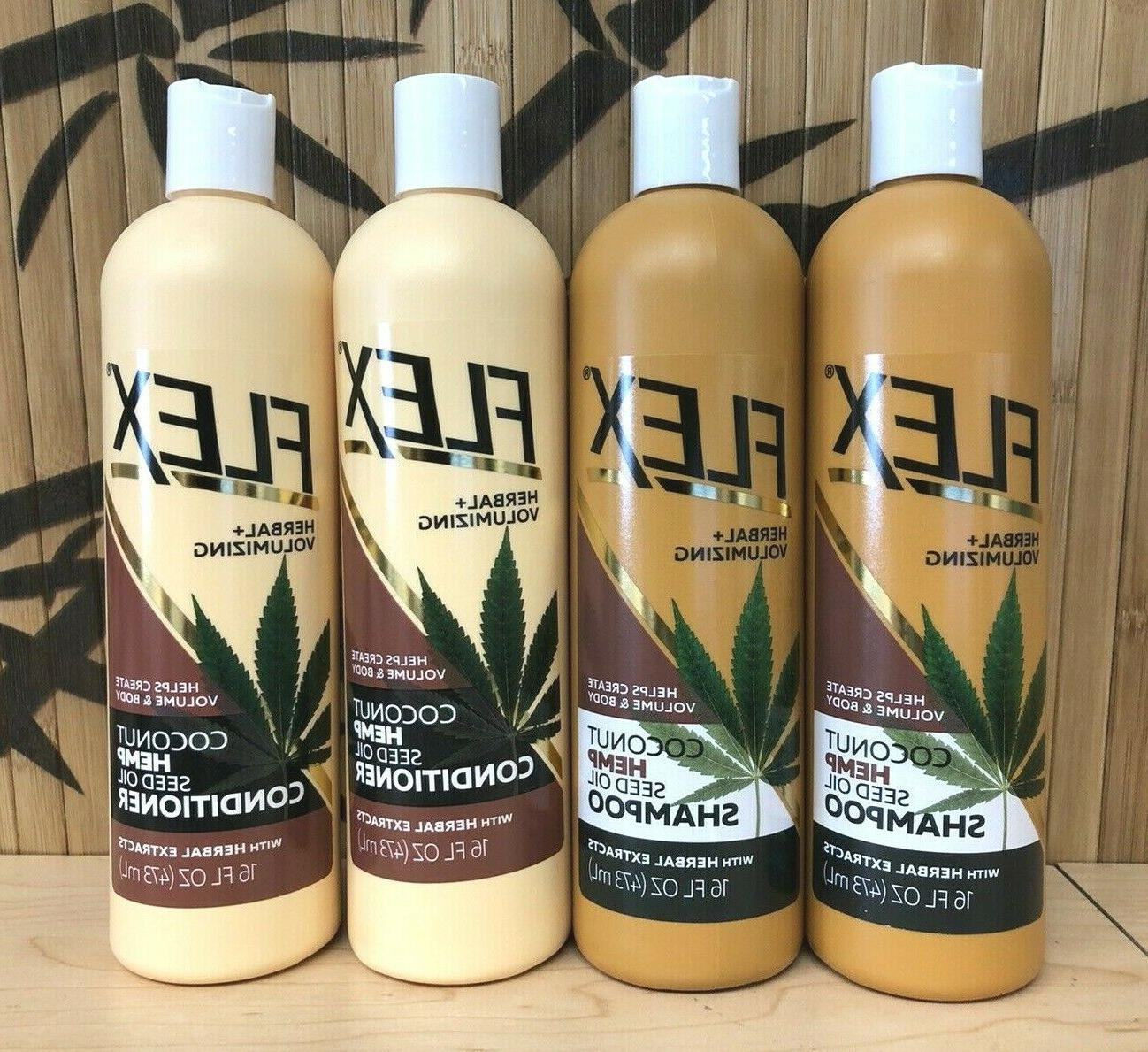 4pk coconut hemp seed oil shampoo conditioner
