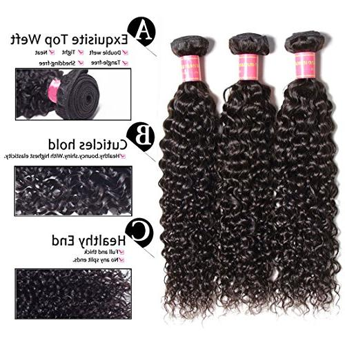 ALI 3 Brazilian Hair Weave Unprocessed Human Extensions Natural Mixed Length