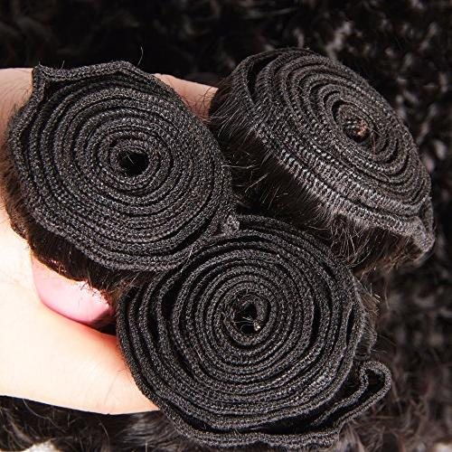 ALI 3 Brazilian Curly Weave 7A Unprocessed Human Extensions Mixed