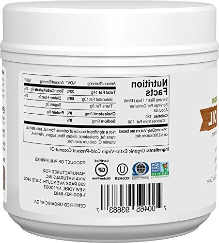 Viva Organic Extra Virgin Coconut Oil, 32 Ounce