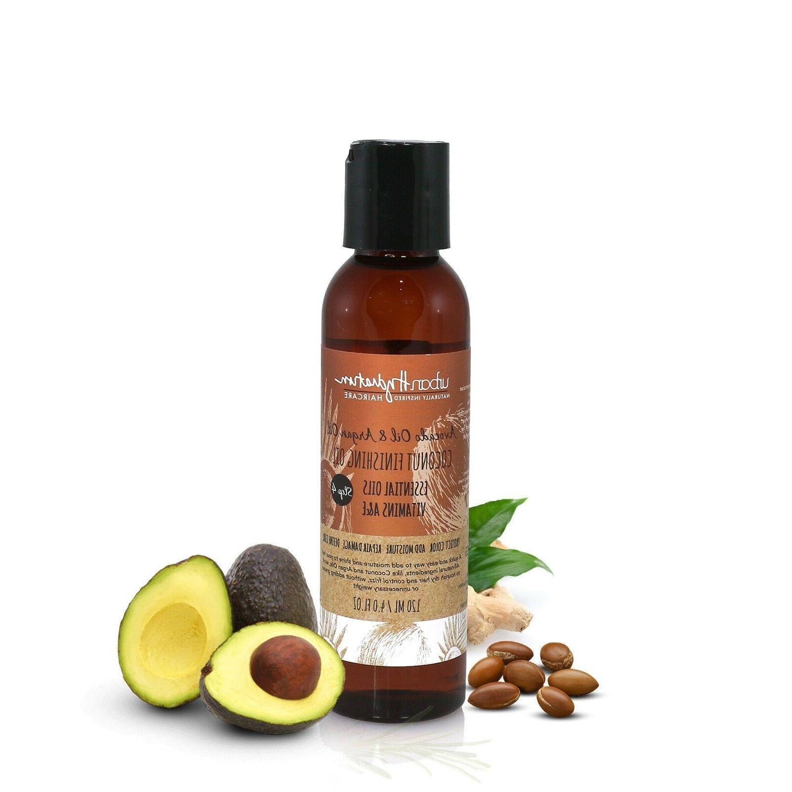 avocado and argan oil coconut finishing oil