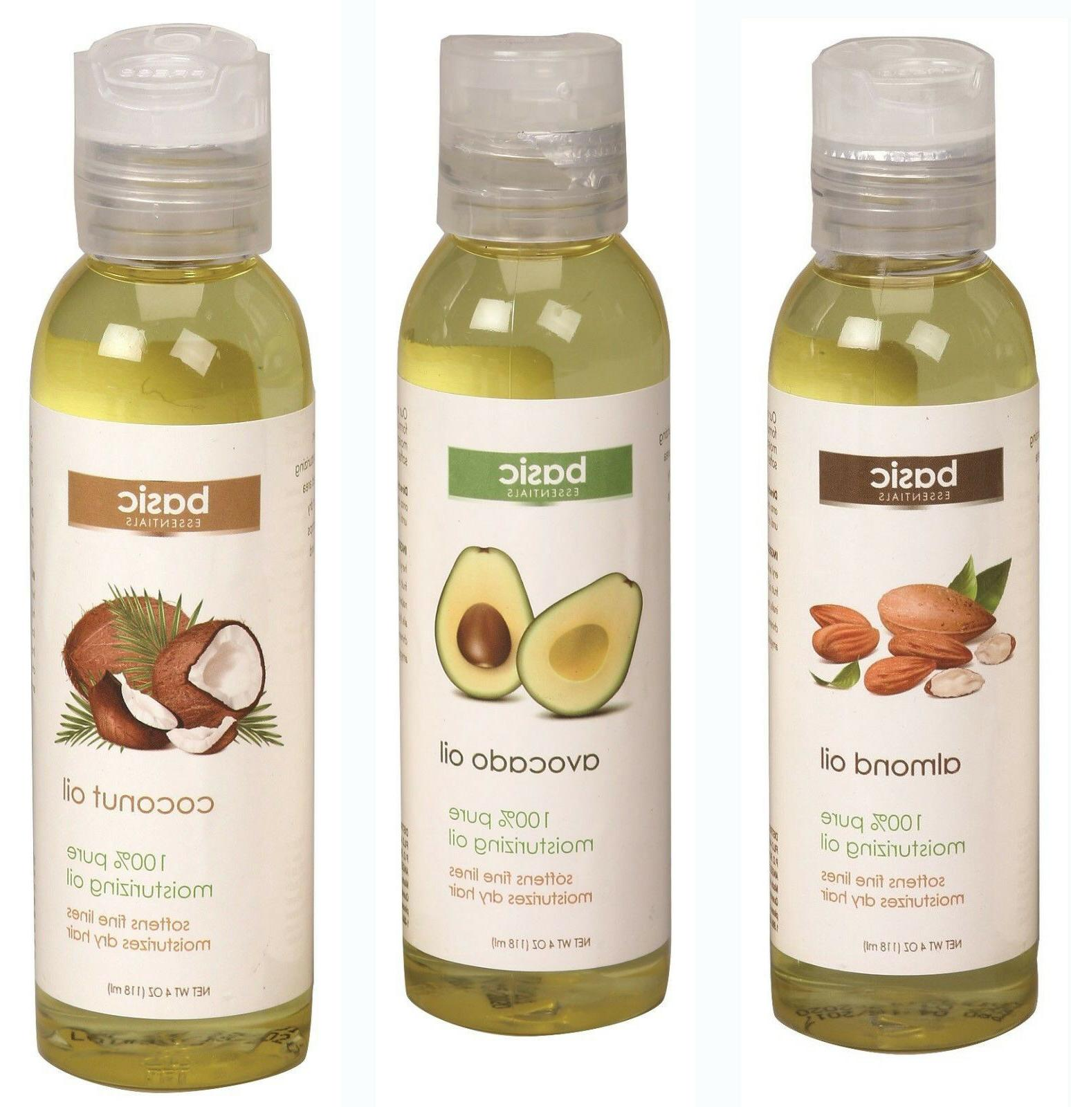 basic essentials almond avocado coconut body oil