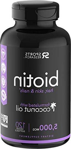Biotin infused with organic virgin coconut oil - 5000mcg
