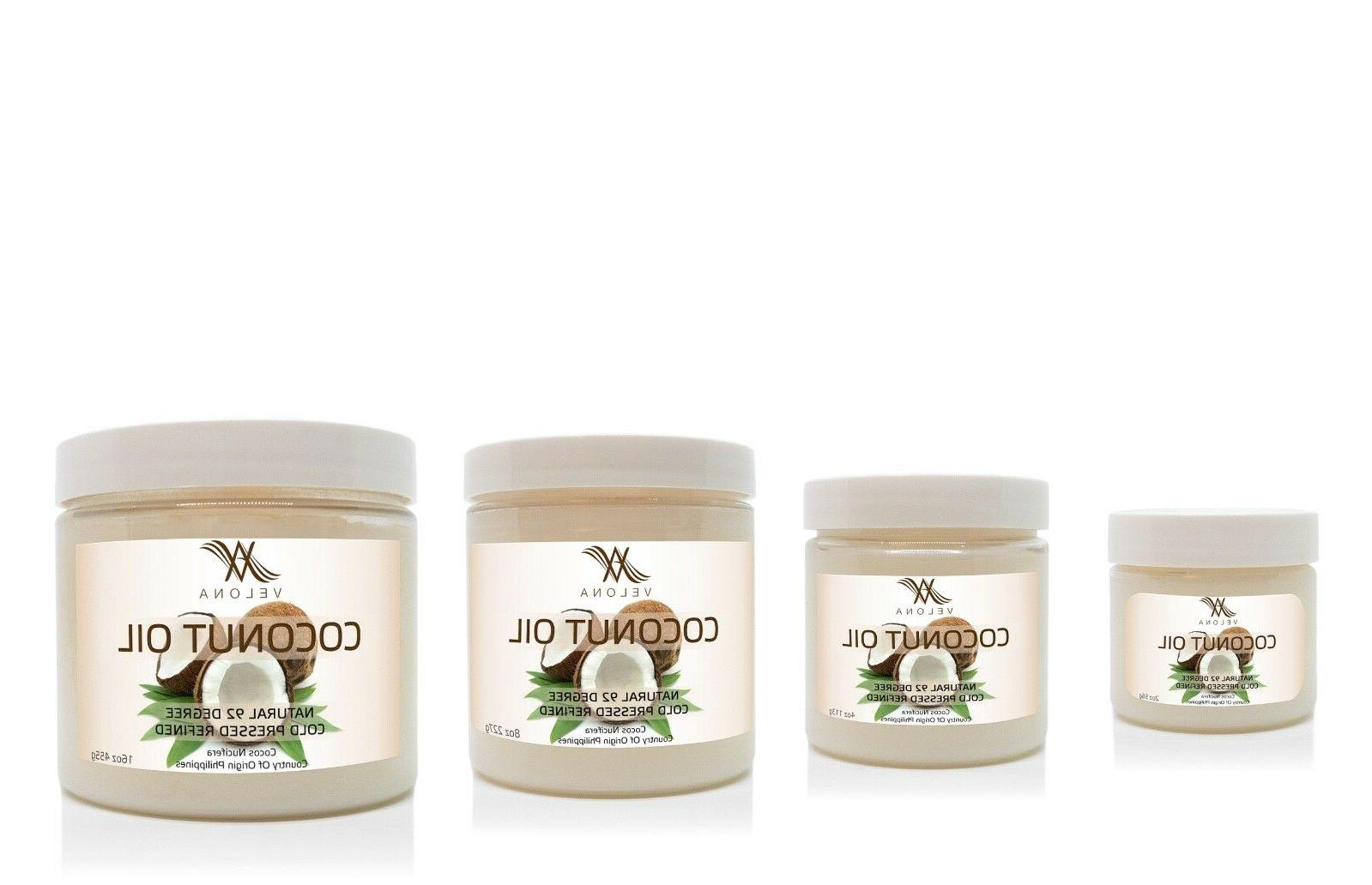 COCONUT OIL 2 lb CARRIER REFINED PRESSED 100%