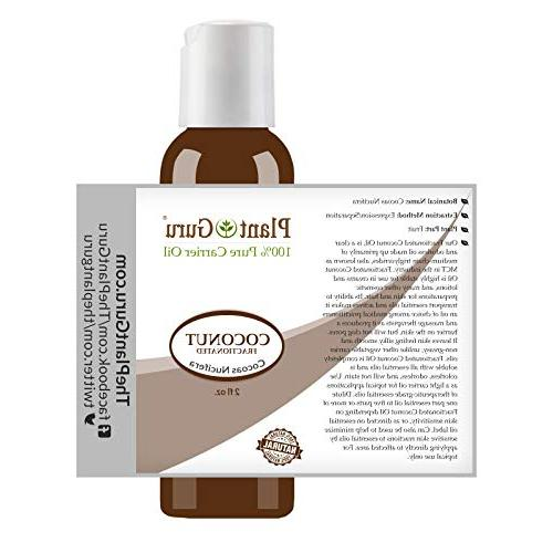 Fractionated Oil oz. 100% Pure Natural - Face, Hair Growth Great for Diluting Essential Oils