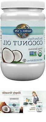 COCONUT OIL EXTRA VIRGIN ORGANIC 100% PURE UNREFINED COLD PR