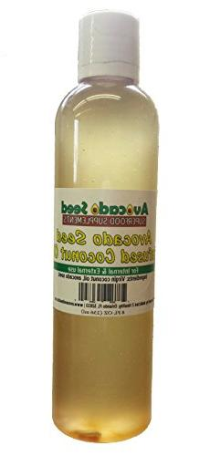 Avocado Seed Coconut Oil 8 oz. - Amazing Superfood Infusion;
