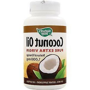 nature s way oil coconut 1000mg 120