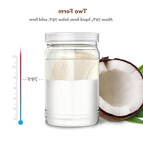 Coconut Anjou Organic Extra Gluten Free, Pressed Unrefined Hair, Beauty, Free Plastic Jar