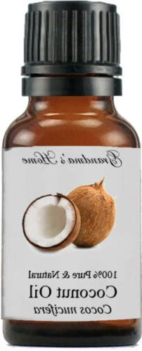 Coconut  Oil - 15 mL - 100% Pure and Natural - Free Shipping