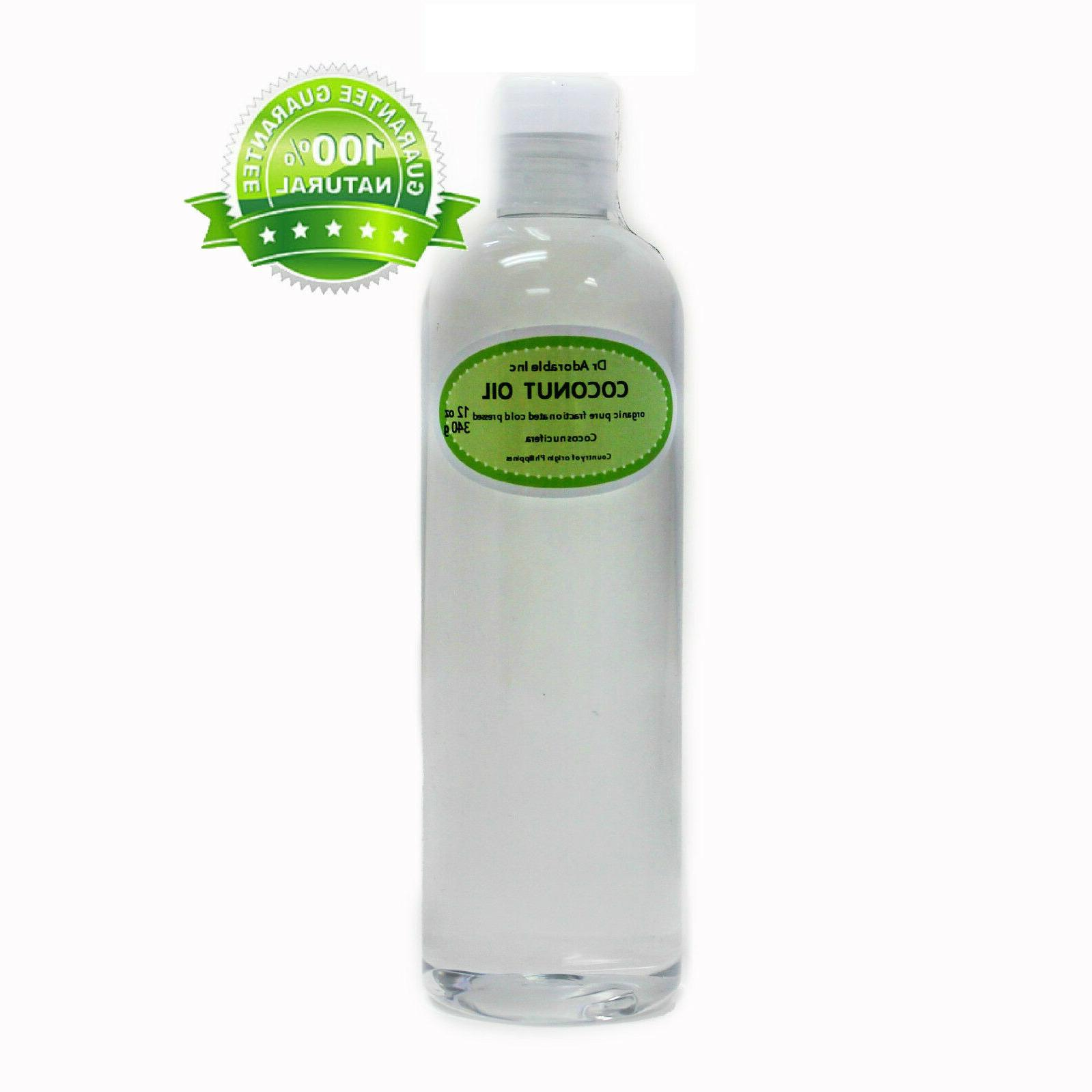 12 oz Fractionated Coconut Oil Pure & Organic Beauty Product