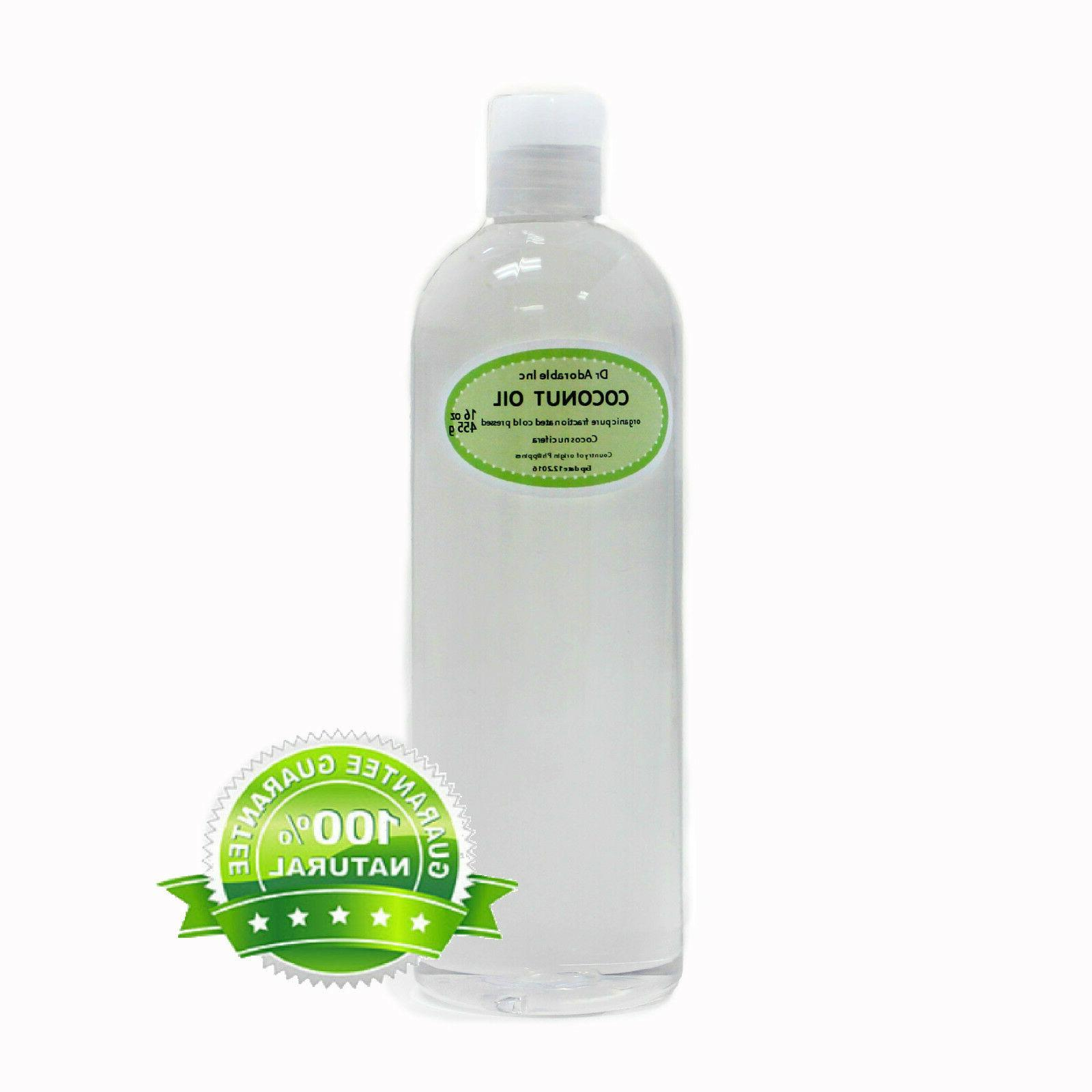 16 oz Fractionated Coconut Oil Pure & Organic Beauty Product