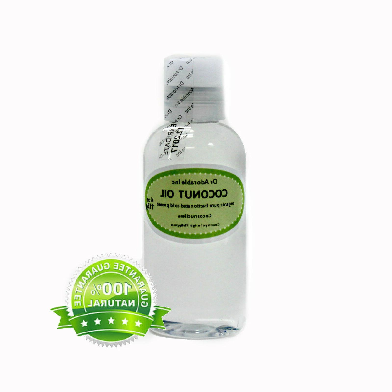 4 oz Fractionated Coconut Oil Pure & Organic Beauty Product