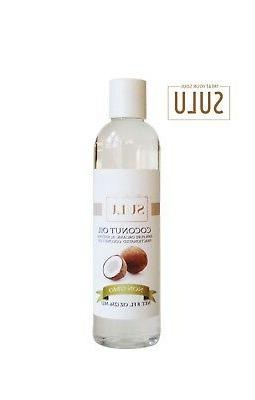 8 OZ HIGH QUALITY FRACTIONATED COCONUT OIL 100% PURE ORGANIC