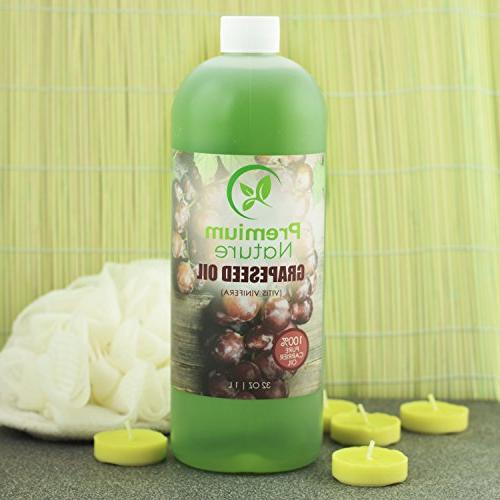 Grapeseed Oil Pure Oil Grape Seed Extract for Essential Natural Skin & Face Massage for Nails Hair 32