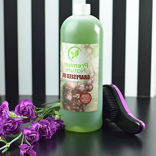 Grapeseed Oil Oil Grape for Essential Natural Skin Moisturizer Body & Face for Nails Hair Growth