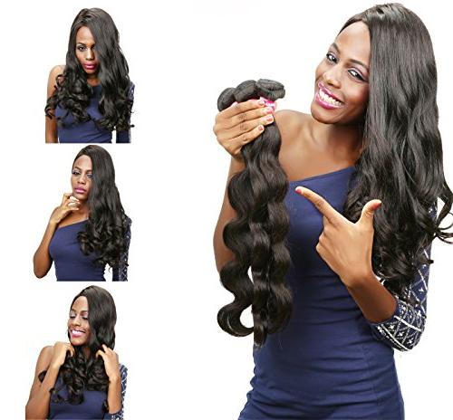 Beauty Forever Body Bundles 20 24inch 100% Hair Extensions Natural Color/pc
