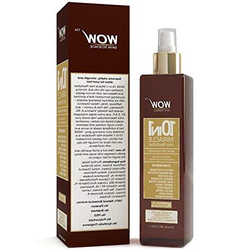 Natural - WOW: 10-in-1 - oz. Visibly Improves Texture, Provides Intense Hydration, Hair and Split Ends - Biotin