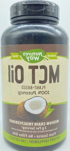 Nature's Way MCT Oil Softgels - 100% Potency, 1000mg of MCTs
